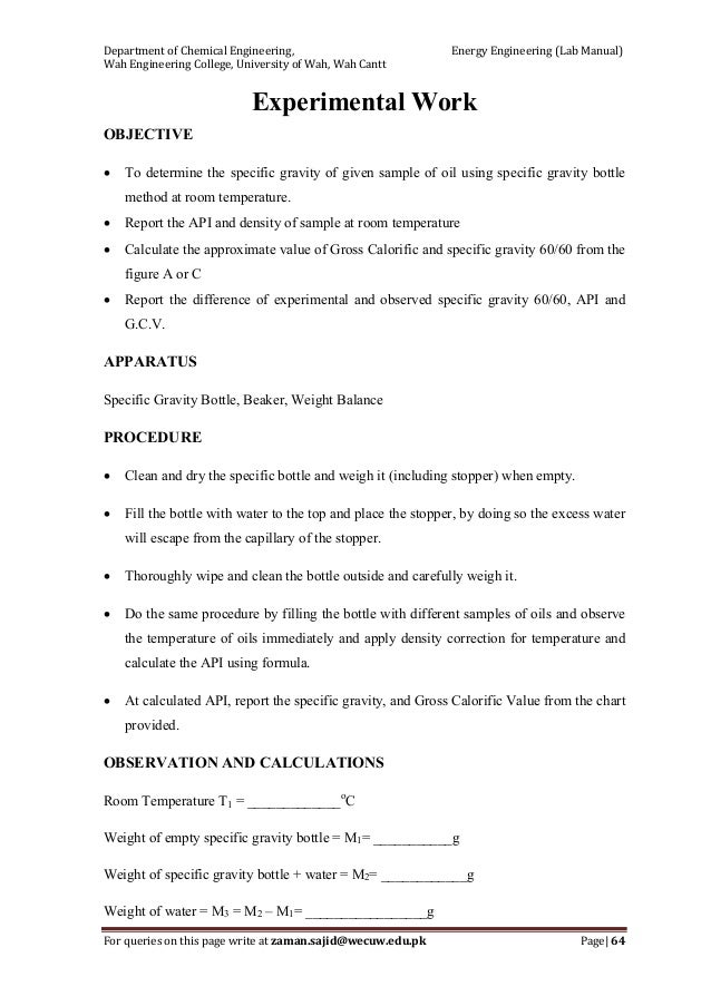 energy engineering lab manual zaman 1 a rh slideshare net CSE Citation Lab Manual Organic Chemistry Lab Manual