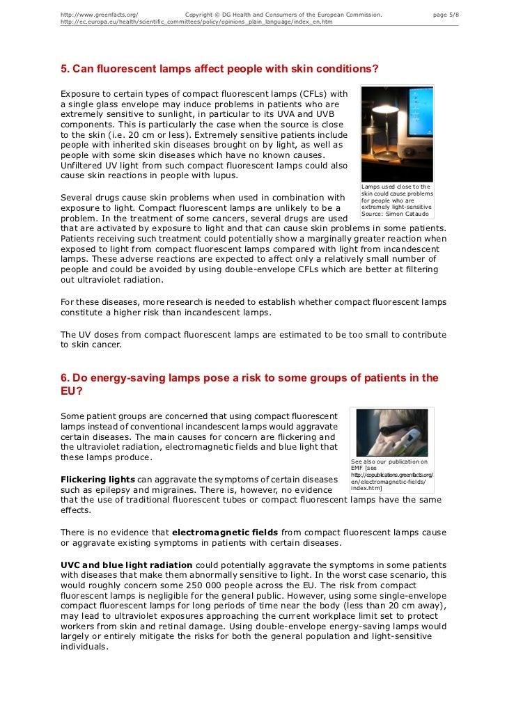 Energy Saving Lamps Health