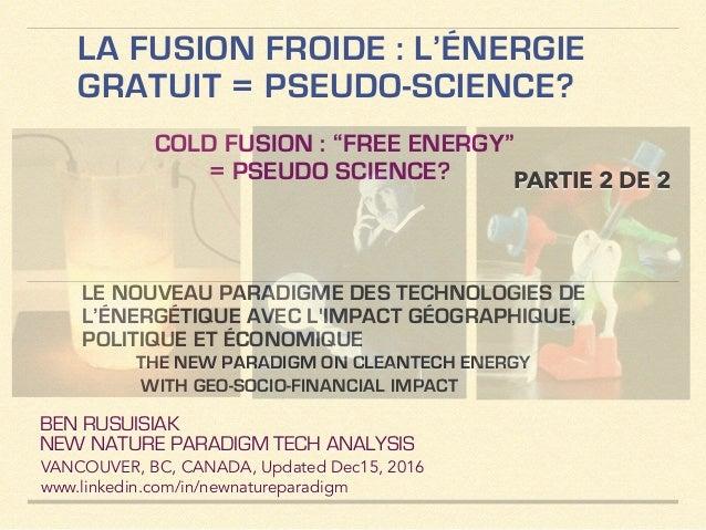 design de qualité prix modéré chercher La Fusion Froide, L'énergie Gratuit, Extraction d'Énergie du ...