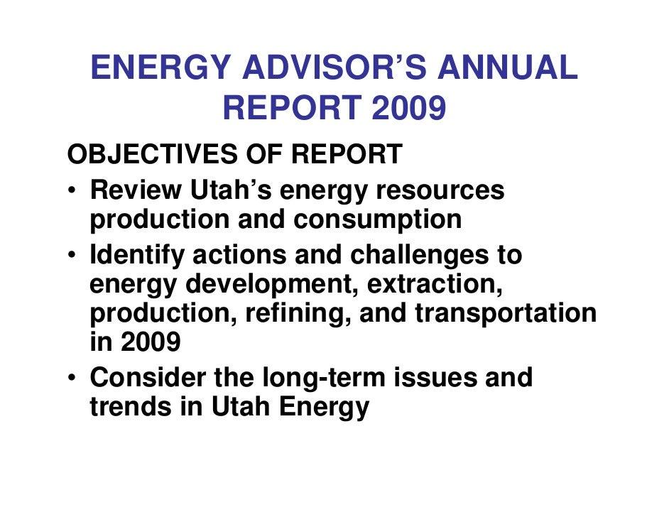 Energy Advisor Annual Report