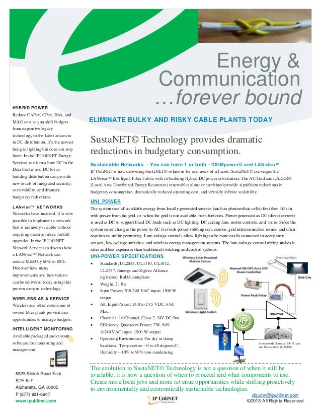 f  Energy & Communication …forever bound  HYBRID POWER  Reduce CAPex, OPex, Risk, and M&O cost as you shift budgets  ELIMI...