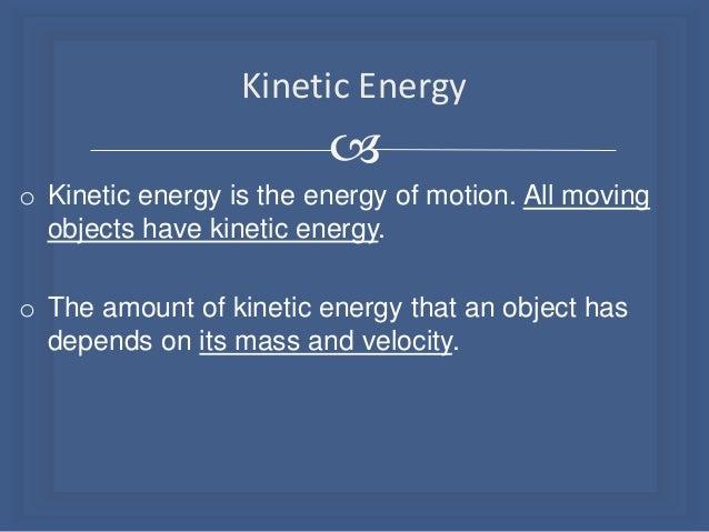 the kinetic energy essay