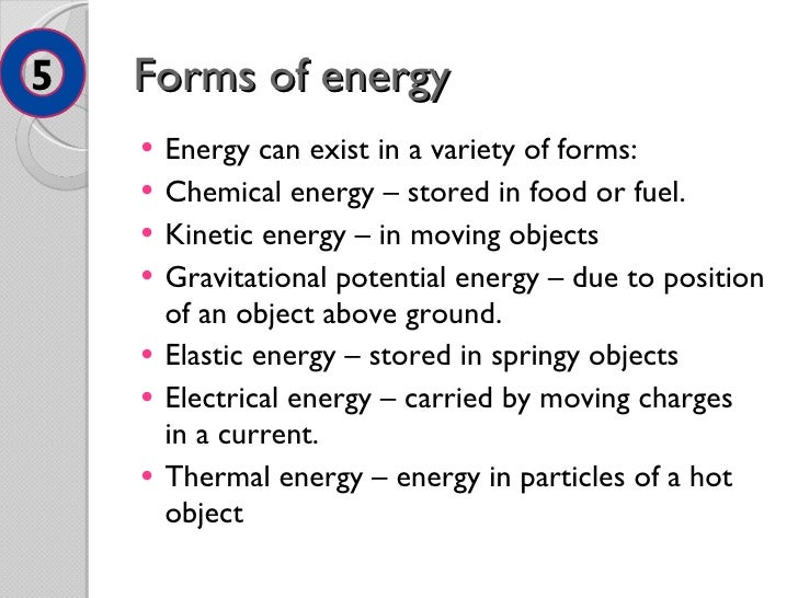Energy and energy resources (summary of AQA module)