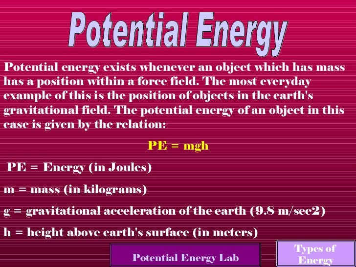 Examples Of Velocity In Everyday Life Energy and work