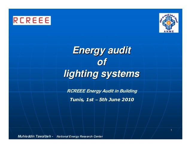 Energy audit                                   of                           lighting systems                             R...