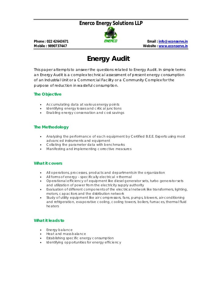 what is energy audit pdf