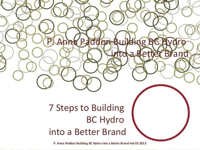 P. Anna Paddon Building BC Hydro              into a Better Brand7 Steps to Building         BC Hydrointo a Better Brand P...