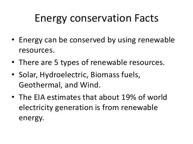 Energy conservation 1 for Energy conservation facts