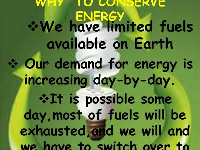 Energy conservation Slide 3