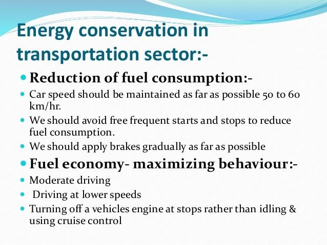 energy conservation in domestic sector
