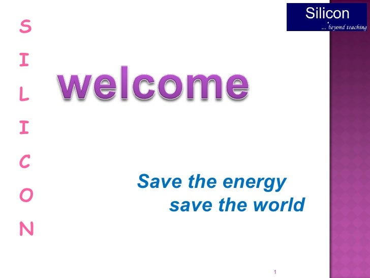 Save the energy save the world