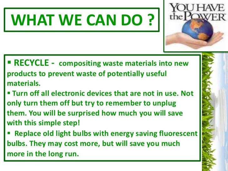 Energy conservation ppt for Ways you can save energy