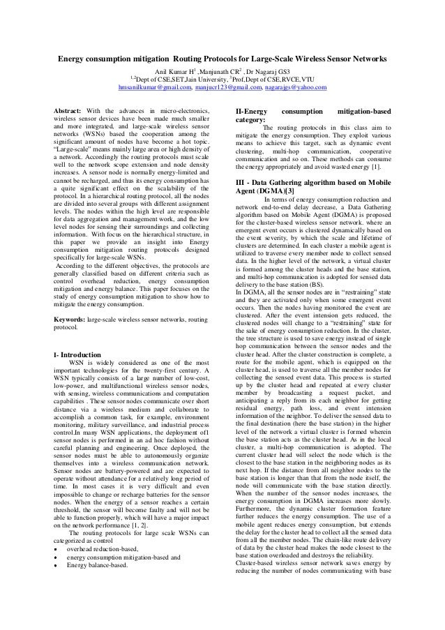 Energy consumption mitigation Routing Protocols for Large-Scale Wireless Sensor Networks                                  ...
