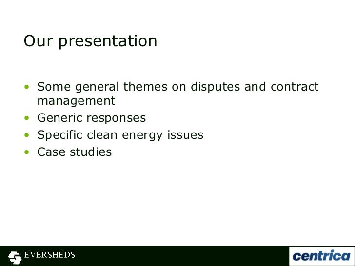 Energy Contracts  Disputes Presentation Slides   September
