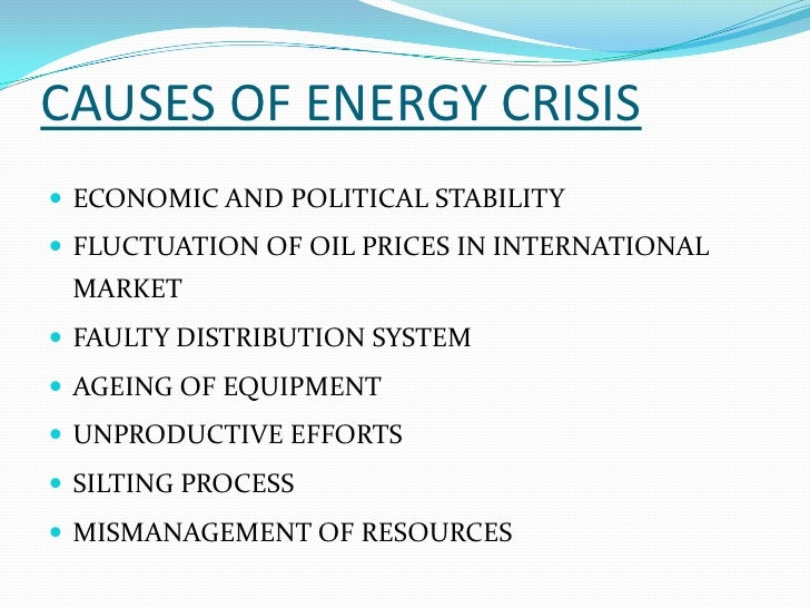 Energy Crisis in Pakistan & Its Causes