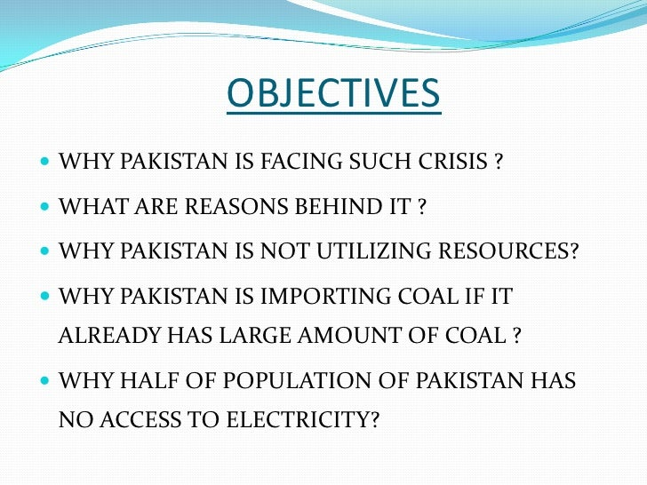 causes of energy crisis in pakistan essay