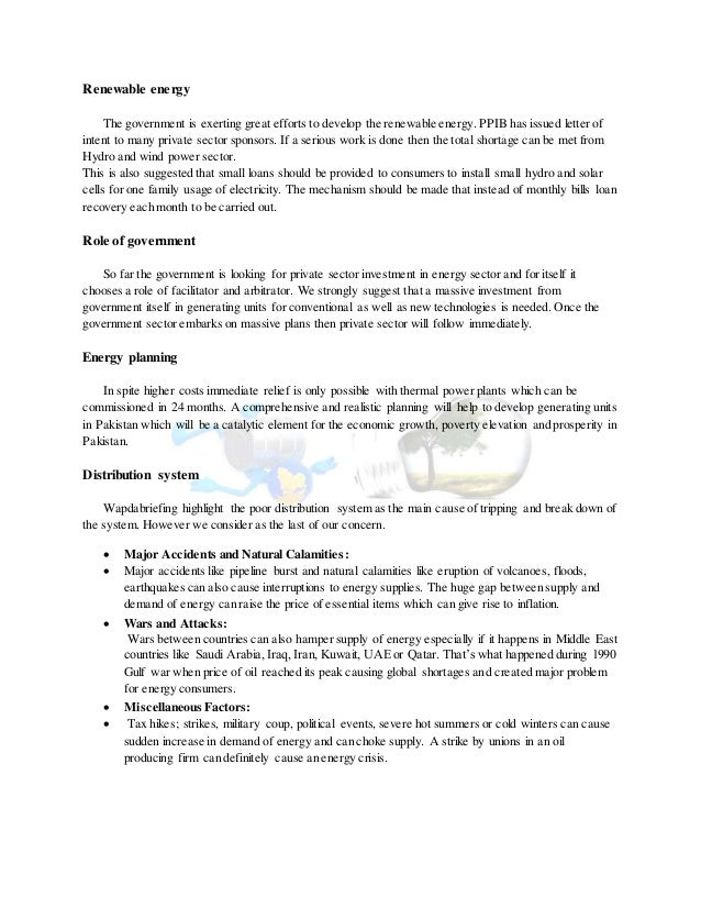 power shortage in pakistan essay Electricity crisis in pakistan essay directly or indirectly effect the economic  growth of pakistan due to the energy crisis in pakistan unemployment increase,  load.