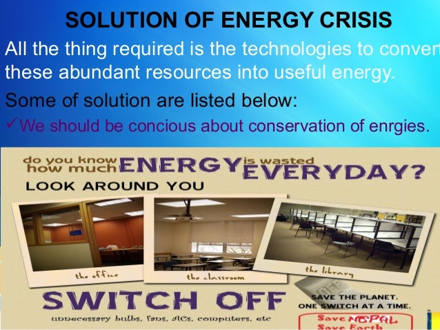 Energy crisis and its solutions india