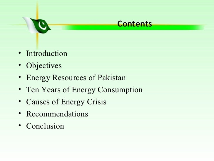 causes of energy crisis Pakistan is facing serious energy crisis for the last few years, which is taking a heavy toll on the trade & industry as well as on the overall econom.