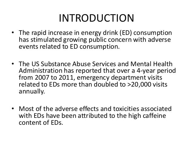 introduction of energy drinks