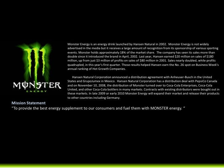 Energy Drink Launched By Hansen Natural In