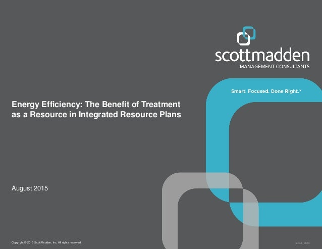 Energy Efficiency: The Benefit of Treatment as a Resource in