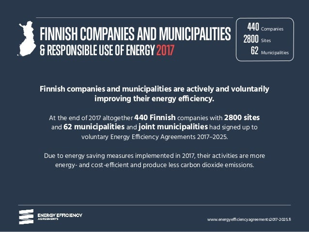 www.energyefficiencyagreements2017-2025.fi Finnish companies and municipalities are actively and voluntarily improving the...