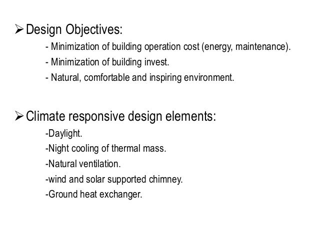 6. Design Objectives: ...