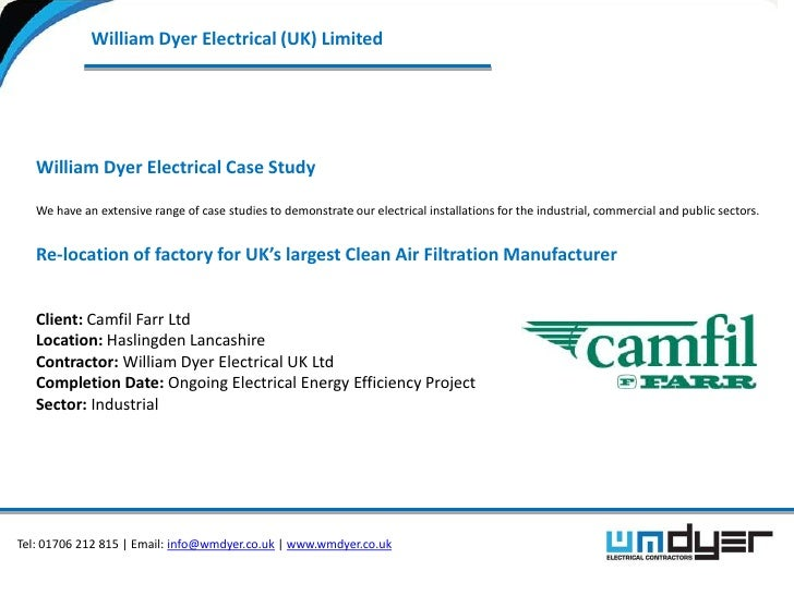William Dyer Electrical (UK) Limited   William Dyer Electrical Case Study   We have an extensive range of case studies to ...
