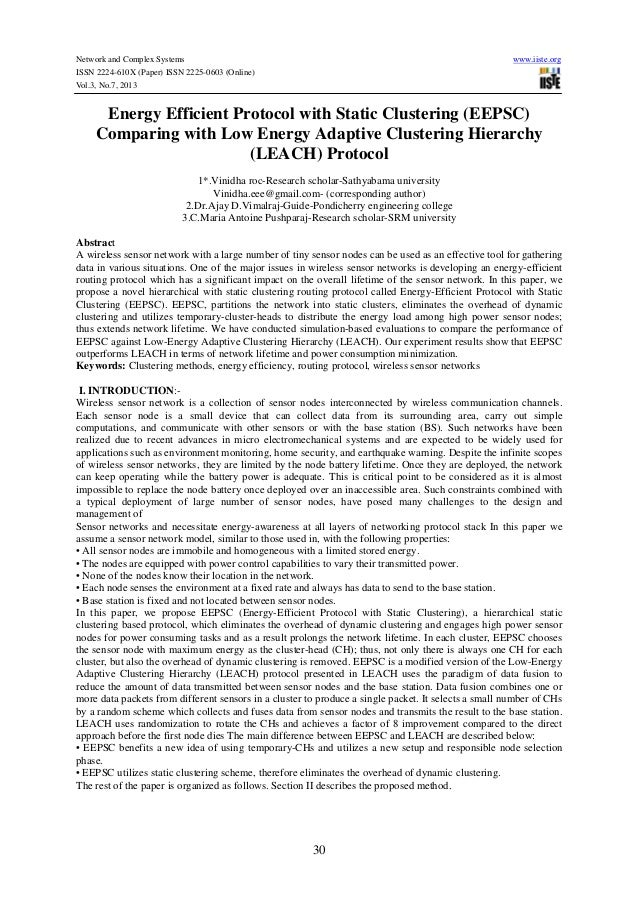 Network and Complex Systems ISSN 2224-610X (Paper) ISSN 2225-0603 (Online) Vol.3, No.7, 2013  www.iiste.org  Energy Effici...
