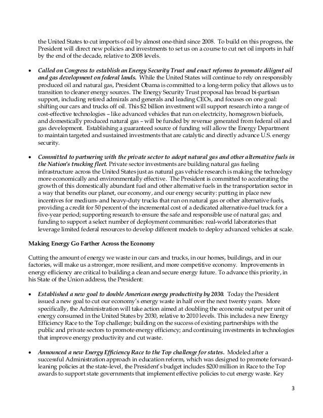 President obamas blueprint for a clean and secure energy future 3 malvernweather Gallery