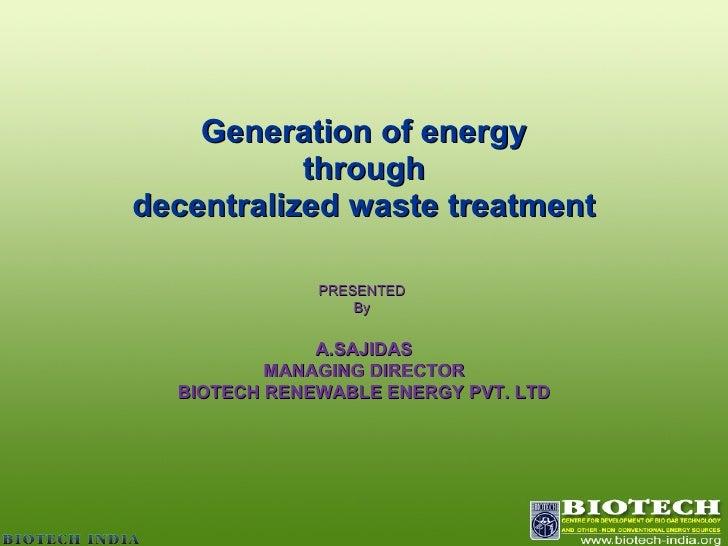 Energy from waste  Kalkotta