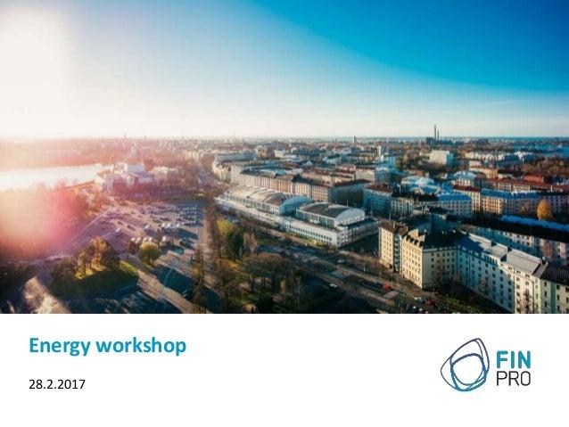 Energy workshop 28.2.2017