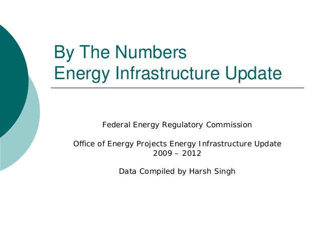 By The NumbersEnergy Infrastructure Update         Federal Energy Regulatory Commission  Office of Energy Projects Energy ...