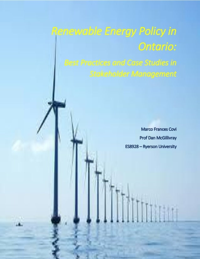 renewable energys lacking policy Complete shift to renewable energy within canada's reach,  in a 56-page policy document scheduled for release on  and it has many sources of renewable energy.
