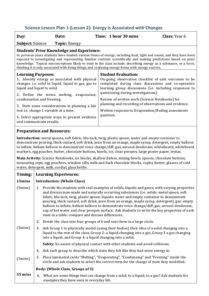 5e physical science lesson plan 5th grade 5 e lesson plan template