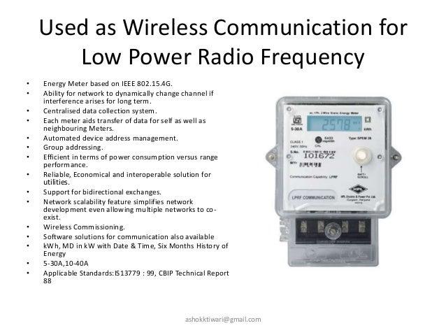 Radio Frequency Power Meter : Energy meters