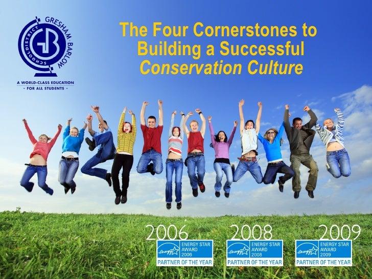 <ul><li>The Four Cornerstones to Building a Successful  Conservation Culture </li></ul>
