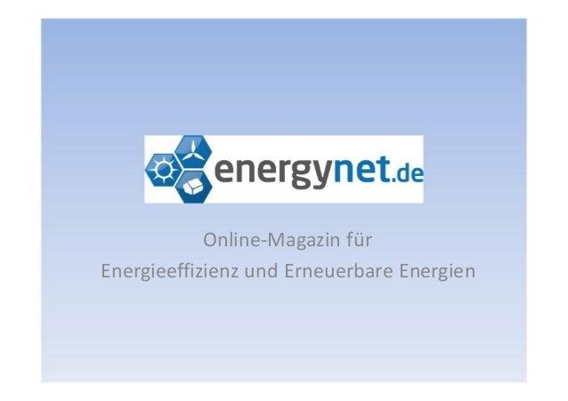 Online-Magazin fürEnergieeffizienz und Erneuerbare Energien