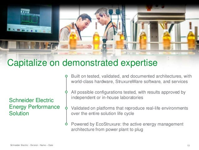 Schneider Electric 13- Division - Name – Date Built on tested, validated, and documented architectures, with world-class h...