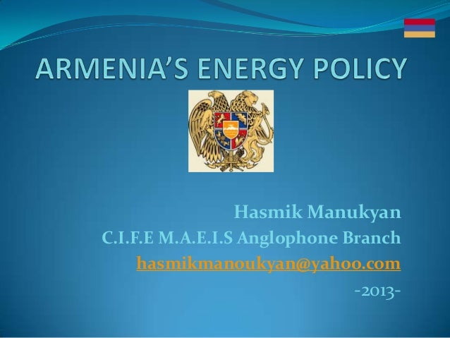 Hasmik ManukyanC.I.F.E M.A.E.I.S Anglophone Branchhasmikmanoukyan@yahoo.com-2013-