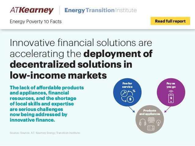 Innovative financial solutions are accelerating the deployment of decentralized solutions in low-income markets Read full ...