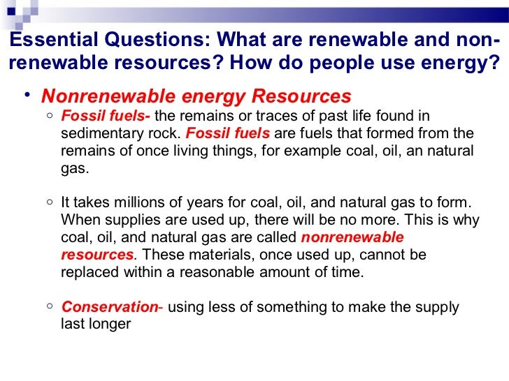 essay types and managment of non-renewable resources What are examples of non-renewable resources which is the type most commonly found in us reserves different examples of nonrenewable resources.