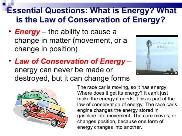 question conservation of energy