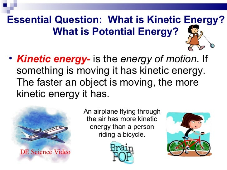Potential Vs Kinetic Energy Powerpoint Pictures to Pin on – Kinetic Energy Worksheet