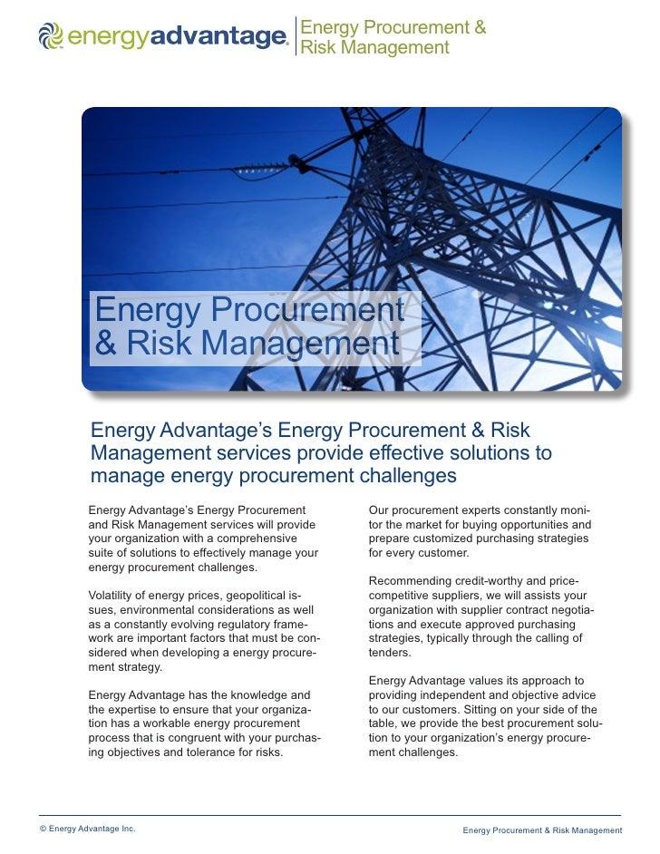 Energy Procurement &     ™                                                  ®                                             ...