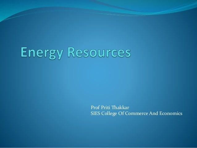 Prof Priti Thakkar SIES College Of Commerce And Economics