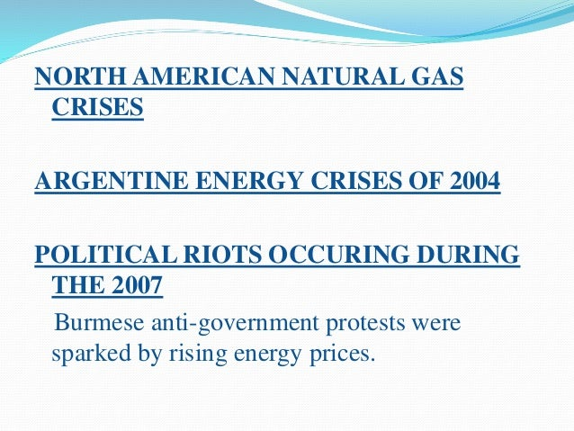 COMMON CAUSES BEHIND ENERGY CRISES