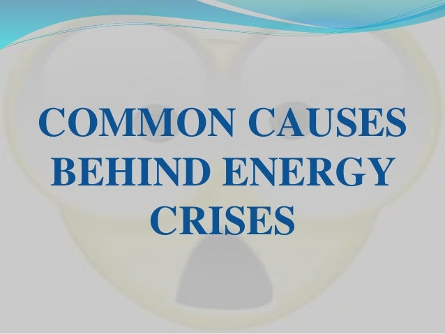 Over dependence on conventional sources of energy, especially on hydro-carbon based fuels. Natural oil and gas shortages...