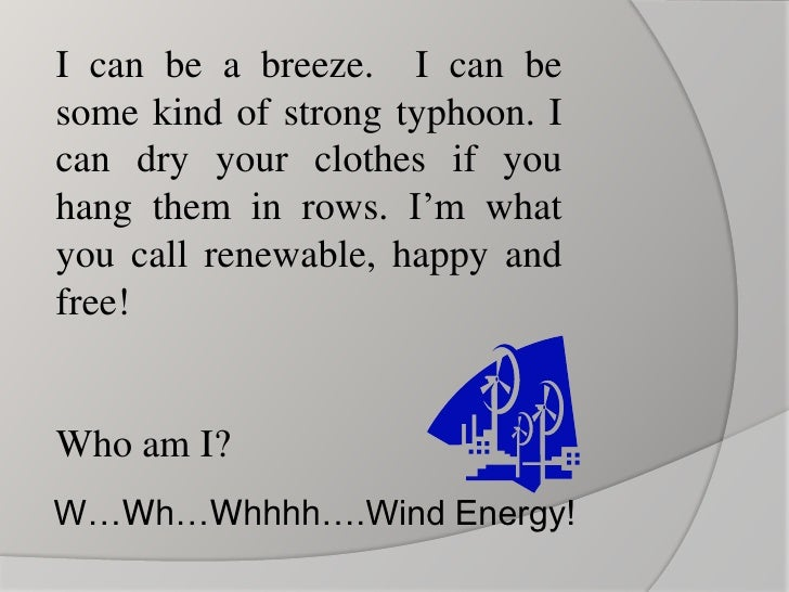 Energy Riddles